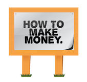 How to make money on a wood sign. Illustration design Stock Photo