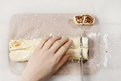 How To Make Palmier Biscuits - French Cookies Royalty Free Stock Photography