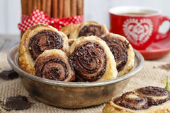 How to make palmier biscuits - french cookies stock images