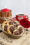 How to make palmier biscuits - french cookies Stock Image