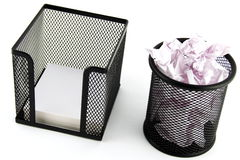 How to Make Paper Trash Stock Images