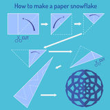 How to make a papper snowflake Stock Photography