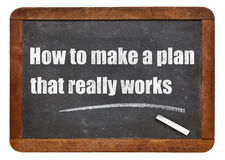 How to make a plan that really works Stock Images