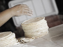 How to make Tortillas stock images