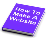 How To Make A Website Book Shows Web Design Stock Photo