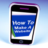 How to Make a Website on Phone Shows Online Strategy Stock Photos