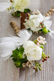How to make wedding boutonniere - tutorial Royalty Free Stock Image