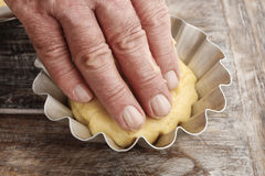 How to make yeast dough - step by step Stock Photography