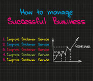 How to manage successful business Stock Image