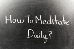 How To Meditate Daily Royalty Free Stock Photography
