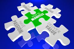 How to Monetize Puzzle Pieces Demand Deliver Value Stock Photos