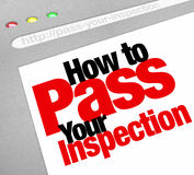 How to Pass Your Inspection Words Website Internet Page Screen Stock Images