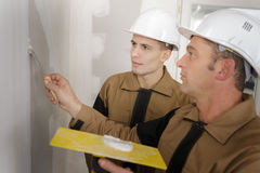 How to plaster wall Stock Image