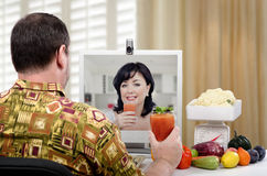 How to prepare smoothie weight loss with vegetables Stock Images