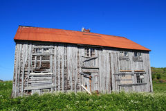 How to repair wooden houses in  Lofoten Royalty Free Stock Photography