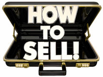 How to Sell Briefcase Learn Sales Advice Tips Royalty Free Stock Images