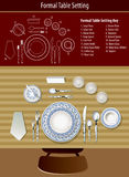 How to set formal table. Vector of how to set formal table Royalty Free Stock Image