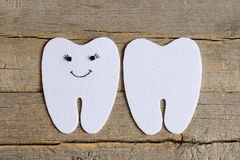 How to sew a felt tooth fairy. Step. Guide. Cut felt details to create a felt tooth fairy Stock Photo
