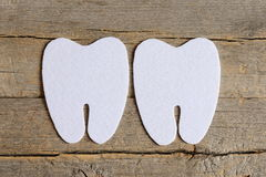 How to sew a felt tooth fairy. Step. Tutorial. Cut felt parts to create a felt tooth fairy. Felt tooth patterns Stock Image