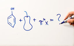 How to solve this equation Royalty Free Stock Image