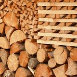 How to stack wood? royalty free stock images
