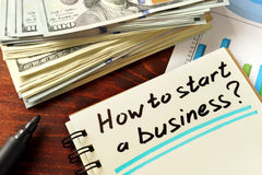 How to start a business Stock Photography