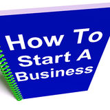 How to Start a Business Shows Starting Strategy Stock Image