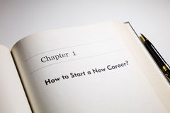 How to start a new career. Fake book. how to start a new career royalty free stock photo