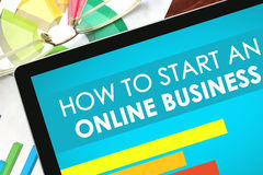 How To Start An Online Business Stock Photography