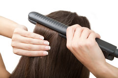 How To Straighten Hair Stock Photography