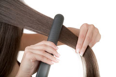 How To Straighten Hair Stock Images