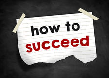 How to succeed. Note message royalty free illustration