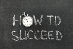 How to succeed watch Stock Photo