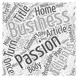How To Turn Your Passion Into A Profitable Home Business word cloud concept word cloud concept vector background. Text Royalty Free Stock Image