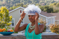 This is how to wear a hat Stock Images