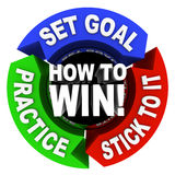 How to Win - 3 Arrows of Advice Stock Photo