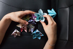 How to work a origami Stock Photos