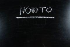 How to write on blackboard ,chalkboard, texture Royalty Free Stock Photo