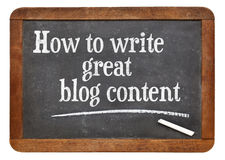 How to write great blog content Stock Images