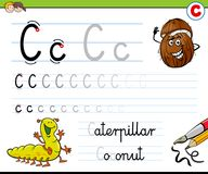 How to write letter C worksheet for kids Royalty Free Stock Images