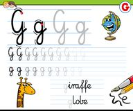 How to write letter G worksheet for kids Stock Photography