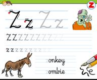 How to write letter Z worksheet for kids Royalty Free Stock Photos