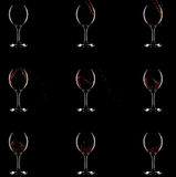 How wine gets into glass. 9 stages Royalty Free Stock Photo