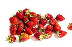 How about that you found a lot of fresh sweet red  strawberry`s Stock Photography