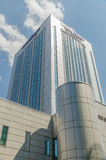 Howard Johnson Hotel. BUCHAREST, ROMANIA - MAY 16: Howard Johnson Hotel on May 16, 2013 in Bucharest, Romania. It is a 70 metres (230 ft) high, five star hotel Royalty Free Stock Image