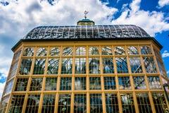 Howard Peters Rawlings Conservatory im Druide-Hügel-Park, Balt lizenzfreie stockbilder