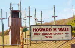 Howard wall boy scout camp entrance royalty free stock images