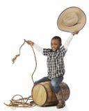 Howdy! I ` m een Cowboy royalty-vrije stock afbeelding