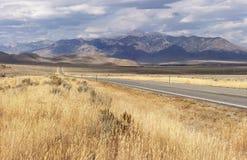 Howe. Highway 33 between Arco and Howe, Idaho stock photo