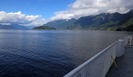 Howe Sound from a Ferry Royalty Free Stock Photos
